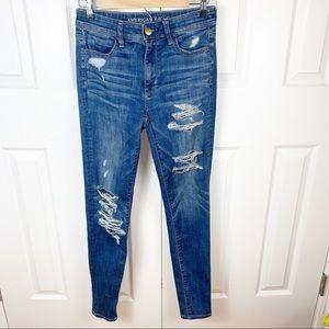 AEO   4 Super Stretch Skinny Denim Jeans